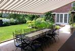 Dining under retractable awning