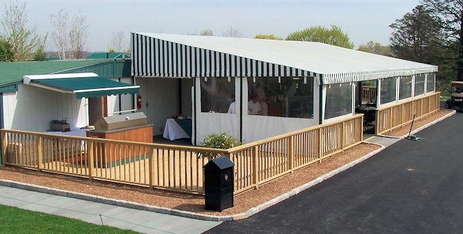 Use of Rectable Awning and Dining Enclosure