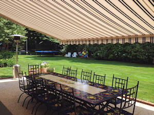 Under Retractable Patio Awning